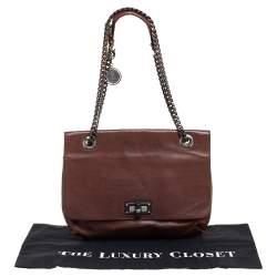 Lanvin Brown Leather Happy Shoulder Bag