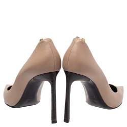Lanvin Beige Leather Pointed Toe Pumps Size 40