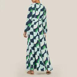 LAYEUR Green Wharton Fit and Flare Maxi Dress FR 44