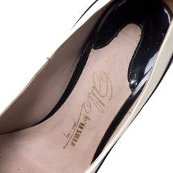 Le Silla Black/White Patent Leather Pointed Toe Pumps Size 38