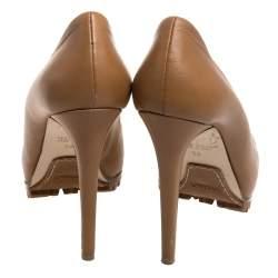 Le Silla Beige Leather Pumps Size 36