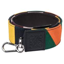 Loewe Multicolor Canvas and Leather Colorblock Bag Strap