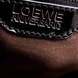 Loewe Python and Leather Big Bear Padlock Satchel