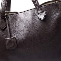 Loewe Dark Brown Leather Heritage Shopper Tote