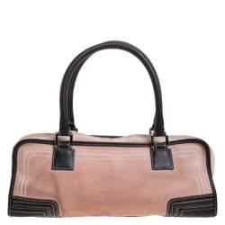 Loewe Pink/Brown Leather Amazona Bag