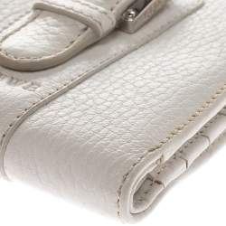 Loewe White Leather Compact Wallet