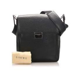 Loewe Black Leather Crossbody Bag