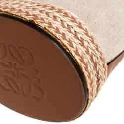 Loewe Beige/Camel Leather Gate Bucket Bag