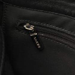 Loewe Black Leather Anagram Bag