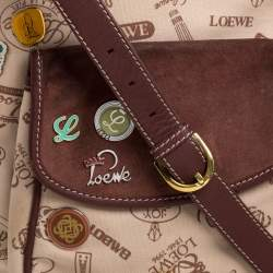 Loewe Tri Color Canvas,Nubuck and Leather 160th Anniversary Messenger Bag