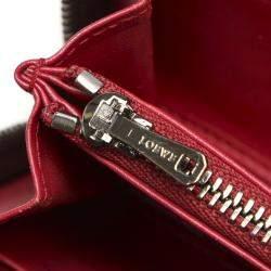 Loewe Red Leather Zip Around Wallet