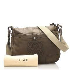 Loewe Brown Leather Anagram Crossbody Bag