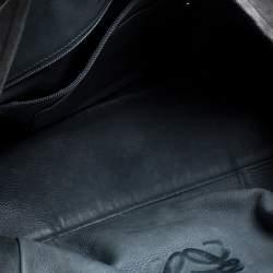 Loewe Grey Suede and Leather Amazona Medium Boston Bag