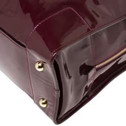 Loewe Burgundy Patent Leather Amazona Satchel