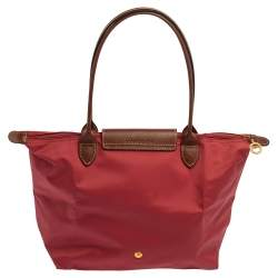 Longchamp Pink Nylon and Leather Small Le Pliage Tote