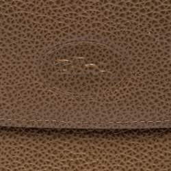 Longchamp Beige Leather Flap Compact Wallet
