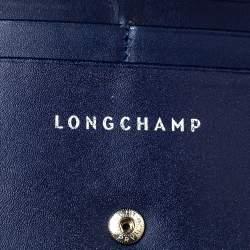 Longchamp Navy Leather Long Flap Wallet