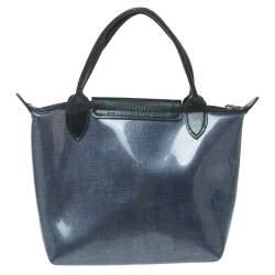 Longchamp Blue PVC Mini Le Pliage Tote