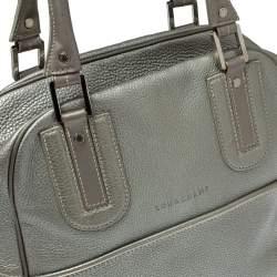 Longchamp Grey Leather Cosmos Satchel