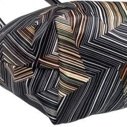 Longchamp Multicolor Nylon and Patent Leather Large Le Pliage Tote