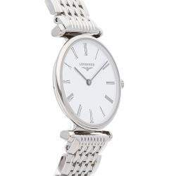 Longines White Stainless Steel La Grande Classique L42094116 Women's Wristwatch 24 MM