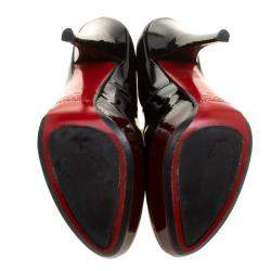 Loriblu Black/Burgundy Ombre Patent Leather Platform Pumps Size 39