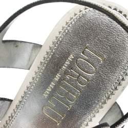 Loriblu Multicolor Suede Spike And Chain Embellished Platform Sandals Size 37.5