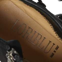 Loriblu Black Suede Detail Platform Ankle Boots Size 39