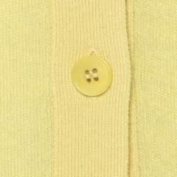 Loro Piana Yellow Cashmere Buttoned Cardigan L