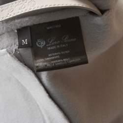 Loro Piana Grey Cashmere Belted Evan Gilet Vest M