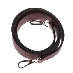 Louis Vuitton Burgundy Leather Shoulder Strap