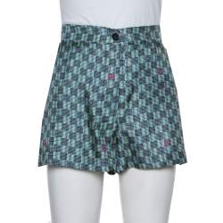Louis Vuitton Multicolor Printed Silk Shorts M