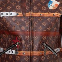 Louis Vuitton Brown Leather Miss France Trunk Monogram Jacket S