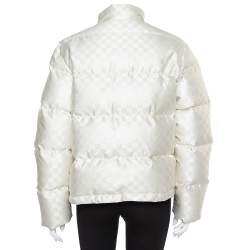 Louis Vuitton Cream Synthetic Down Puffer Jacket M
