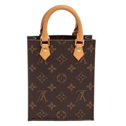 Louis Vuitton Monogram Canvas Petit Sac Plat Bag