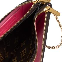 Louis Vuitton Brown Monogram Christmas Edition Double Zip Pochette