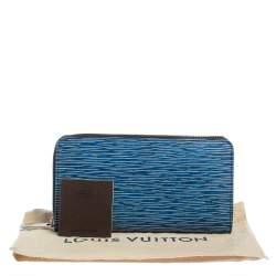 Louis Vuitton Denim Epi Leather Zippy Wallet