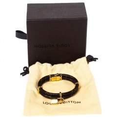 Louis Vuitton Keep It Twice Monogram Canvas Padlock Charm Bracelet