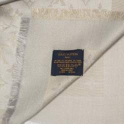 Louis Vuitton Gold and Grey Monogram Shine Shawl