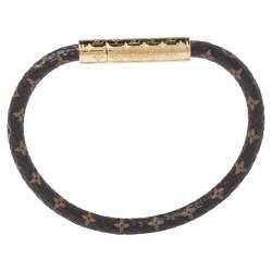 Louis Vuitton Brown Monogram Confidential Bracelet 17 cm