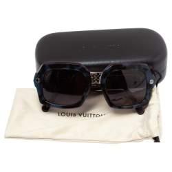 Louis Vuitton Havana/ Blue Z0955W Squared Mini Monogram Sunglasses