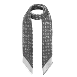 Louis Vuitton Black Monogram Denim Shawl