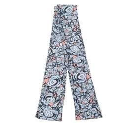 Louis Vuitton Bleu Ciel Rock'n'Roses Silk Bandeau Scarf
