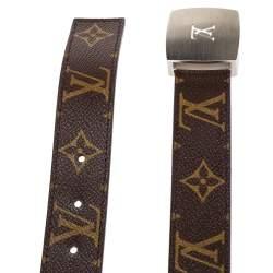 Louis Vuitton Monogram Canvas LV Cut Belt 85CM