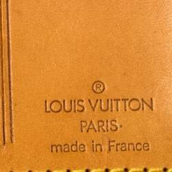 بطاقة أسم حقيبة سفر لوي فيتون جلد بنية
