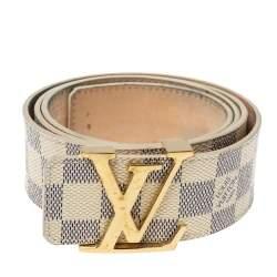 Louis Vuitton Damier Azur Canvas Initiales Belt 95CM