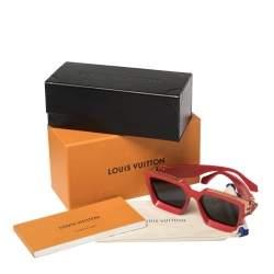 نظارة شمسية لوي فيتون مربعة زد1165دبليو 1.1 مليونيرز حمراء