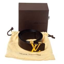 Louis Vuitton Amarante Monogram Vernis Initials Belt 95CM