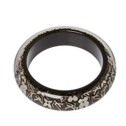 Louis Vuitton Grey Resin Monogram Inclusion Bangle Bracelet