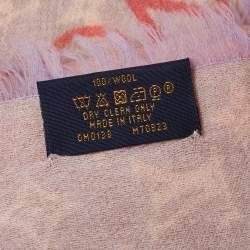 Louis Vuitton Gris Perle Wool Telling Monogram Stole